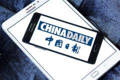 Логотип газеты газеты Чайна Дэйли Стоковое фото RF