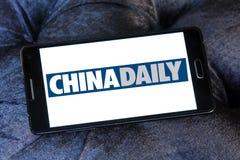 Логотип газеты газеты Чайна Дэйли стоковые фото
