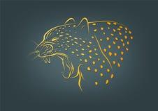 Логотип гепарда, символ леопарда и дизайн концепции дикой кошки Стоковая Фотография RF