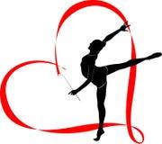 Логотип гимнастики иллюстрация вектора