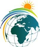Логотип глобуса и солнца стоковое фото rf