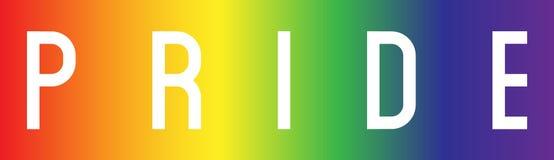Логотип гордости с цветами стоковые фото
