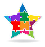Логотип головоломки звезды Стоковые Изображения RF