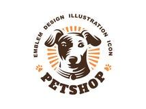 Логотип головы собаки - vector иллюстрация, эмблема на белой предпосылке иллюстрация вектора