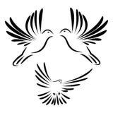 Логотип голубя летания Стоковая Фотография