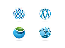 Логотип глобуса Стоковые Изображения RF