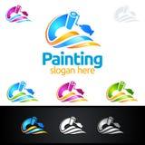 Логотип дела картины с красочным выплеском представил логотип картины Стоковые Фотографии RF