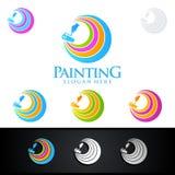 Логотип дела картины с красочным кругом представил логотип картины Стоковые Фото
