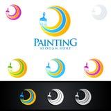 Логотип дела картины с красочным кругом представил логотип картины Стоковые Фотографии RF