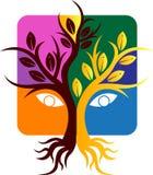 Логотип дерева стоковая фотография rf