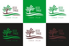 Логотип дерева Eco Вектор шаблона логотипа для дела, логотипа дерева, загрузки шаблона логотипа дерева - загрузки вектора иллюстрация вектора