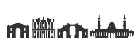 Логотип Джордан Изолированная архитектура Джордан на белой предпосылке иллюстрация штока