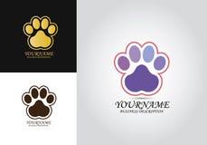 Логотип дизайна любимца лапки иллюстрация штока