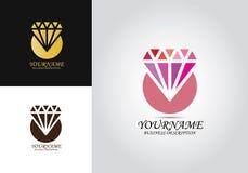 Логотип дизайна шаблона диаманта иллюстрация вектора