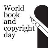 Логотип дня книги и авторского права мира Стоковое Изображение
