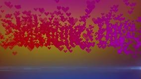 Логотип дня ` s валентинки herts видеоматериал