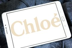 Логотип дома моды Chloé Стоковое Изображение