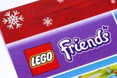 Логотип друзей Lego в каталоге Стоковое Изображение