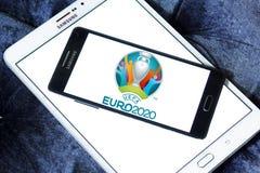 Логотип 2020 евро UEFA Стоковое Изображение