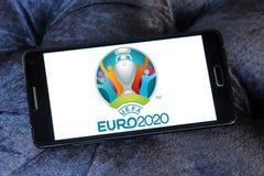 Логотип 2020 евро UEFA Стоковое Изображение RF
