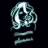 Логотип девушки красоты Стоковые Изображения
