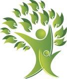 Логотип дерева пар Стоковые Фото