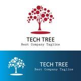 Логотип дерева технологии Стоковое Изображение