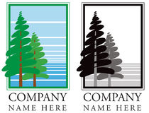Логотип лесного дерева Стоковая Фотография