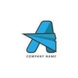 Логотип дела алфавита Стоковые Изображения