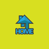 Логотип дела домашний Стоковое Изображение RF
