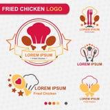 Логотип жареной курицы - вектор Стоковые Изображения