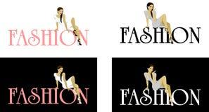 Логотип женщины моды Стоковые Изображения RF