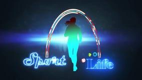 Логотип жизни спорта сток-видео