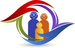 Логотип заботы глаза семьи Стоковые Изображения