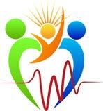 Логотип заботы сердца Стоковое фото RF