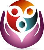 Логотип заботы Стоковое Фото