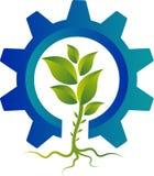 Логотип завода шестерни стоковая фотография rf