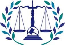 Логотип закона правосудия Стоковая Фотография