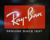 Логотип запрета Рэй стоковые фото