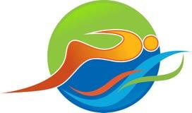 Логотип заплывания Стоковое Фото