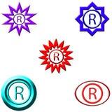Логотип зарегистрированный знаком Стоковое Изображение RF