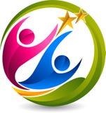 Логотип звезды пар Стоковые Изображения