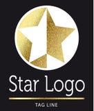 Логотип звезды в золоте Стоковое Фото