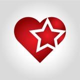 Логотип звезды сердца Стоковые Изображения
