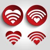 Логотип звука сердца установленный Стоковые Фото