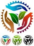 Логотип земледелия иллюстрация штока