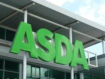 Логотип знака зеленого цвета ASDA Стоковая Фотография RF