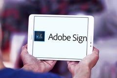 Логотип знака Adobe Стоковое фото RF