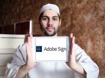 Логотип знака Adobe Стоковая Фотография