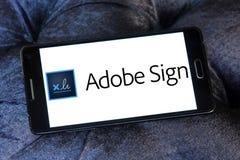 Логотип знака Adobe Стоковое Изображение RF